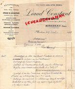 86- MIREBEAU - FACTURE LIAUD CONSTANT-CONSTRUCTEUR MECANICIEN AUTOMOBILE-METTEUR AU POINT AVIATION-1923 - Cars