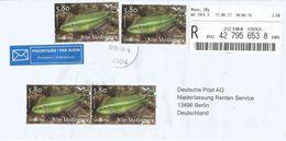 Croatia 2017 Sibenik Ocellated Wrasse Symphodus Ocellatus Fish Barcoded Registered Cover - Kroatië