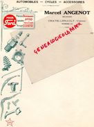 86-CHATELLERAULT- BELLE FACTURE MARCEL ANGENOT-MECANICIEN AUTOMOBILE-CYCLES-VELO- -POUR FORD-SIMMONS-APCO-MILWAUKEE91920 - Cars