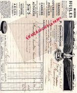 37-SAINT SYMPHORIEN TOURAINE TOURS-RARE FACTURE SIM'S- ETS. P. SIMON-ROCHE-13 AV. DU MANS- HUILES AUTOMOBILES-1935 AIGLE - Cars