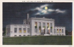 Georgia Gainesville City Hall At Night