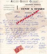 16- SIGOGNE-FACTURE BONTE & TESSIER- ANCIEN GARAGE GUIBERT AUTOMOBILE-MECANIQUE GENERALE- 1946 - Cars