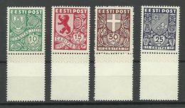 Estland Estonia 1939 Michel 142 - 145 MNH - Estonia