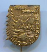 Alpinism, Mountaineering - III. SLET PLANINARA, Fužine 1954. Gorski Kotar  Yugoslavia, Vintage Pin, Badge, Abzeichen - Alpinism, Mountaineering