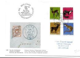 """49 - 8 - Enveloppe Avec Oblit Spéciale """"Journée Du Timbre 1967"""" Stans - Storia Postale"""