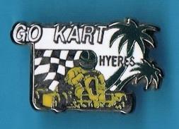PIN'S //  ** GO KART ** HYERES  ** . (CC.) - Automobile - F1