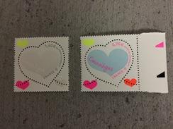 2 Timbres Coeur Saint Valentin 2016 Courréges - Fêtes