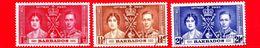 BARBADOS - Usato - 1937 - Incoronazione Di Re Giorgio VI E Della Regina Elisabetta - Serie Completa - Barbados (...-1966)