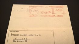 EMA MILANO MONTECATINI 1948 - Affrancature Meccaniche Rosse (EMA)