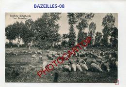 BAZEILLES-Troupeau De Moutons-CARTE Allemande-Guerre 14-18-1 WK-France-08 - France