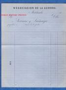 Document Ancien Vierge 19e - MATEHUALA - Negociacion De La Aurora - Soriano Y Suinaga - Mexico - France