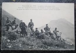 Serbie Guerre Balkanique 1912 Officiers Serbes Au Dessus De Liyeche Cpa Timbrée Slovenaca Serbie - Andere Oorlogen