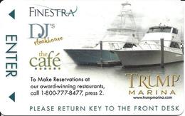 Trump Marina Casino - Atlantic City, NJ - Hotel Room Key Card - Hotel Keycards