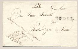 Nederland - 1818 - Portvrije Omslag Van Burgemeester Van HOORN Naar De Schout Van Venhuizen En Hem - Nederland