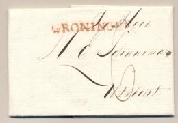 Nederland - 1819 - Complete Vouwbrief Van GRONINGEN Naar Utrecht - Nederland