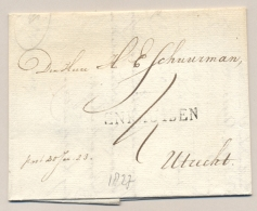 Nederland - 1823 - Complete Vouwbrief Van ENKHUISEN Naar Utrecht - ...-1852 Voorlopers