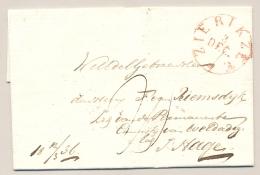 Nederland - 1836 - Omslag Zonder Inhoud Van ZIERIKZEE Naar 's Gravenhage - ...-1852 Voorlopers