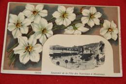 Vaud Montreux Souvenir De La Fete Des Narcisses 1907 Carte En Relief  Très Jolie+++++ - VD Vaud