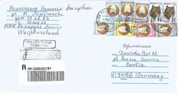 Belarus 2017 Kostykovgomel Wolve Armory Barcoded Registered Cover - Wit-Rusland