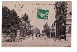 14 Riva Bella La Rue De La Mer Et L' Hotel Du Chalet Cpa Animée Correspondance 1912 - Riva Bella
