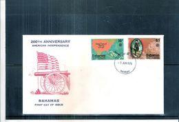 FDC Bahamas - 200 Th Anniversary American Independence (to See) - Bahamas (1973-...)
