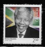 CANADA 2015. #2805  NELSON MANDELA.  Stamp $2.50 From Souvenir Sheet - Blocs-feuillets