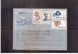 Lettr De Madagascar Vers Paris - 1951 - (à Voir) - Madagascar (1889-1960)