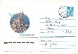 Ukraine Crimea 1987 Yalta Schwalbennest Castle Postal Stationary Cover - Oekraïne