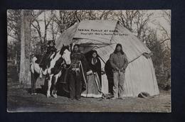 USA INDIAN FAMILY AT HOME 1909 By Martin Post Card - Kansas City – Kansas