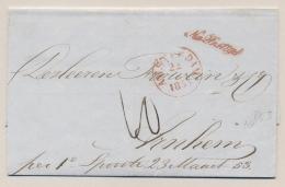 Nederland - 1853 - Complete Vouwbrief Na Posttijd Van AMSTERDAM Naar Arnhem - ...-1852 Voorlopers