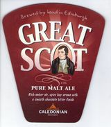 CALEDONIAN BREWERY (EDINBURGH SCOTLAND) - GREAT SCOT PURE MALT ALE - PUMP CLIP FRONT - Uithangborden