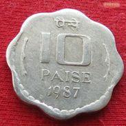 India 10 Paise 1987 C KM# 39  Inde - Inde