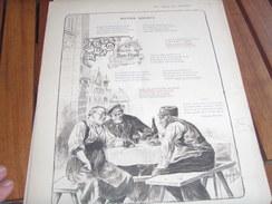 267  ème DINER DU BON BOCK /TEXTE GEORGES BODEREAU  /ILLUSTRATION  GEORGES GRELLET   /PRESIDENT LEON VALBERT - Menus