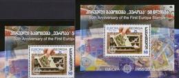 EUROPA 1956-2006 GEORGIE 512+Block 36 ** 5€ M/s CEPT Stamps On Stamp Hojita S/s Blocs Philatelic Sheet Bf Georgia - Géorgie