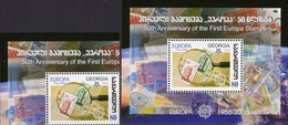 EUROPA 1956-2006 GEORGIE 513+Block 37 ** 5€ M/s CEPT Stamps On Stamp Hojita S/s Blocs Philatelic Sheet Bf Georgia - Géorgie
