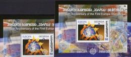 EUROPA 1956-2006 GEORGIE 514+Block 38 ** 5€ M/s CEPT Stamps On Stamp Hojita S/s Blocs Philatelic Sheet Bf Georgia - Géorgie