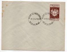 Cachet Manuel  PONT A MOUSSON - 54 Sur Tp N°668 Sur Lettre --Beau Cachet - Marcophilie (Lettres)