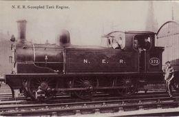 Edwardian RP Postcard NER E Class 572 North Eastern Railway LNER J71 0-6-0T Loco - Trains