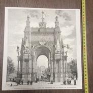 ENV 1880 LES FETES NATIONALES DU CINQUANTENAIRE BELGE L ARC DE TRIOMPHE DE LA PORTE DE SCHAERBEEK - Vieux Papiers