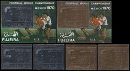 Soccer Football Fujeira #600/1 A/B + Bl 36/7 1970 World Cup Mexico MNH ** - 1970 – Mexique
