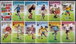 Soccer Football Nicaragua #1556/67 1970 World Cup Mexico MNH ** - 1970 – Mexico