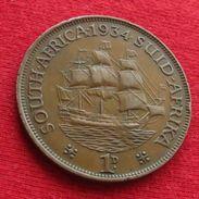 South Africa 1 Penny 1934 KM# 14.3  Africa Do Sul RSA Afrique Do Sud Afrika - Zuid-Afrika