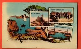 NER-07  Souvenir De Marseille Multivues.  Circulé 1935 - Vieux Port, Saint Victor, Le Panier