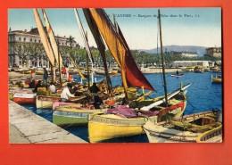 NER-11  Cannes  Barques De Pêche Dans Le Port. Circulé 1925 - Cannes