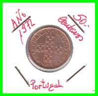 PORTUGAL  MONEDA DE 50 CENTAVOS  AÑO 1972 - Portugal
