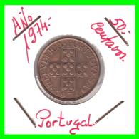 PORTUGAL  MONEDA DE 50 CENTAVOS  AÑO 1974 - Portugal