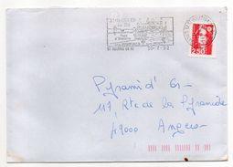 1992--flamme St MARTIN DE RE-17 (remparts,Port)--tp Adhésif Marianne Du Bicentenaire 2.50F- - Postmark Collection (Covers)