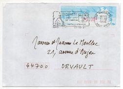1996--flamme HABSHEIM-68-Chef-lieu De Canton-blason Sur Vignette Lisa - Postmark Collection (Covers)