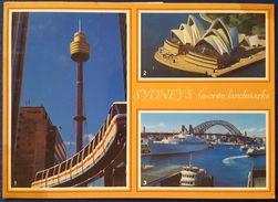 SYDNEY - Sydney's Favorite Landmarks: Sydney Tower W. Monorail Train - Sydney Opera House - Harbour Bridge Vg - Sydney