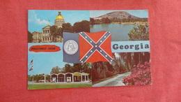 - Georgia Multi View Confederate Flag  Greetings  Ref 2710 - United States